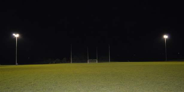 Floodlights at Centre of Excellence