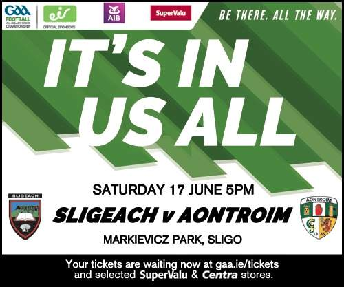 Sligo v Antrim Sat 17th June 5pm