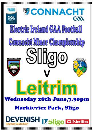CMFC Sligo v Leitrim Wed 28th June,7.30pm