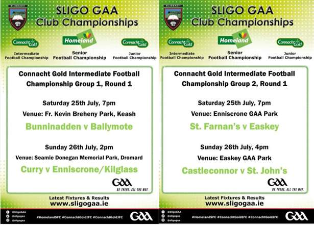 The weekends Connacht Gold IFC fixtures