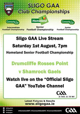 Live Stream Sat 1st Aug 7pm