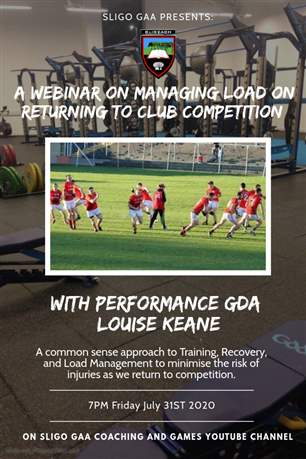 Coaching & Games Webinar Fri 31st July 7pm