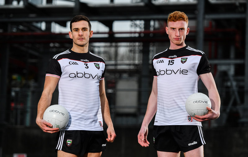 0f8cc5f312d Sligo GAA reveals new-look white jersey at AbbVie's facility on the  Manorhamilton Road. · Biopharmaceutical company extends current sponsorship  deal ...